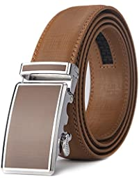 "Xhtang Men's Ratchet Belt Automatic Buckle Genuine Leather belt 35mm Wide 1 3/8"""