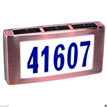 Solar LED Light House Street Address Numbers Plaque Sign Illuminated ;#G344T3486G 34BG82G456265