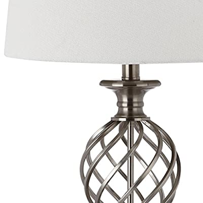 Safavieh Lighting Collection Lattice Urn Nickel 26.75-inch Table Lamp (Set of 2)