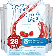 Crystal Light Pitcher Packs, Raspberry Ice, 112 Packets (28 Boxes of 4 Packets)