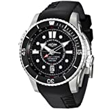 Vulcain Cricket X-TREME Men's Black Rubber Strap Automatic Alarm Watch 211931.201RF