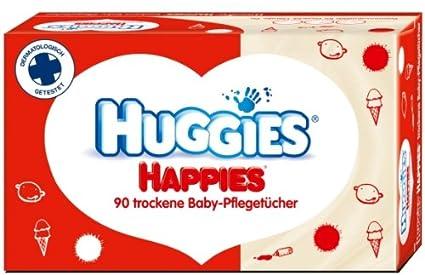 Kleenex Huggies Happies Toallitas secas para bebés, 4 unidades