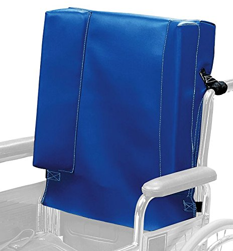 (Sammons Preston Wheelchair Positioning Aid, Comfortable Foam Posture Support for Wheelchair Users, Padded Back Cushion for Elderly, Handicapped, and Disabled Users, Geriatric Back Support)