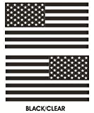 Chiam-Mart 1 Pair Magnificent Unique Black Clear Subdued Flag Stickers Sign Military Home Vinyl Trucks Window Decal Bike Patches Graphics Wall Laptop Truck Bumper Cars Decals Sticker Size 8''x4.5''