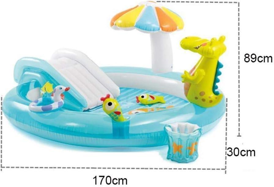 Flotador de piscina, puede rociar agua Piscina inflable para niños ...