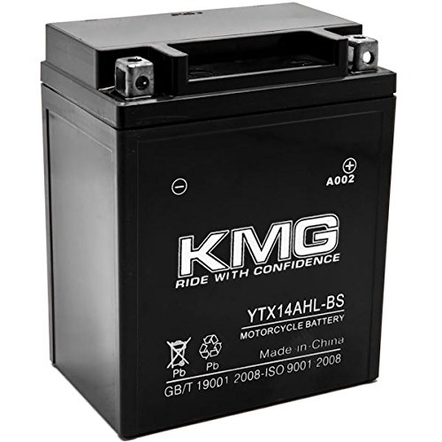 KMG YTX14AHL-BS Battery For Honda 750 CB750F Super Sport 1975-1982 Sealed Maintenace Free 12V Battery High Performance SMF OEM Replacement Powersport Motorcycle ATV Snowmobile Watercraft by KMG