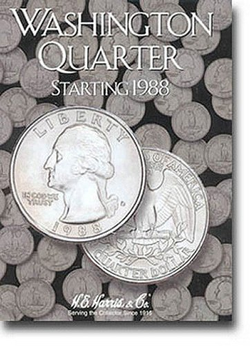Washington Quarters Folder Starting 1988-1998