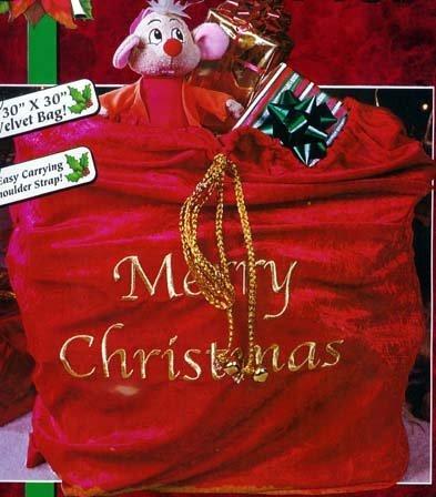Velvet Complete Santa Adult Costumes (Santa Sack Costume Accessory)