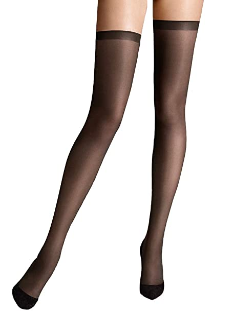9d7090cb4 Wolford Fatal 15 Seamless Stay Ups  Amazon.ca  Clothing   Accessories