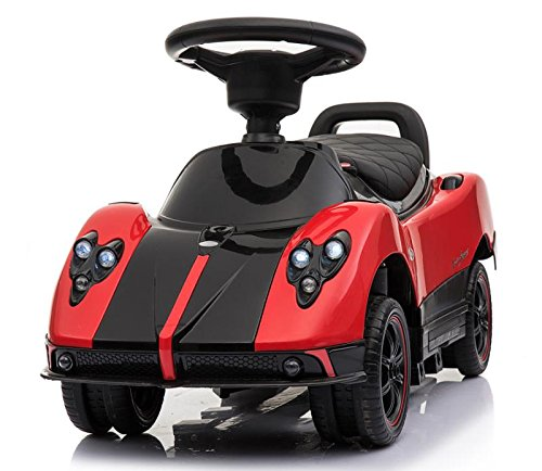 Licensed Pagani Multi Function 6V Kid Drive-able Ride on Stroller Push Car (Red) by Four Tone USA (Image #2)