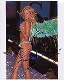 Karolina Kurkova Signed Victoria's Secret Wearing Wings Color 8x10 Photo W COA