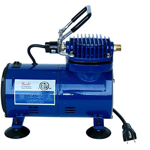 - Paasche Airbrush D500 1/10 H.P. Air Compressor with Auto Shut-Off, Multicolor