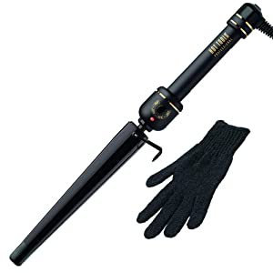 Hot Tools Professional 1 1/4 Inch Black Gold XL Tapered Curling Iron/Wand Model No. HT1852XLBG