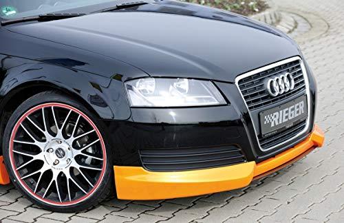 : 07.08- Rieger Heckeinsatz schwarz matt für Audi A3 8P ab Facelift