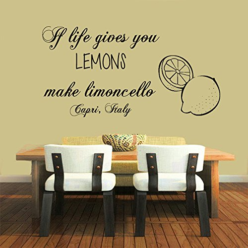 Wall Decor Vinyl Decal Sticker Words Quote If Life Gives You Lemons... Kg595