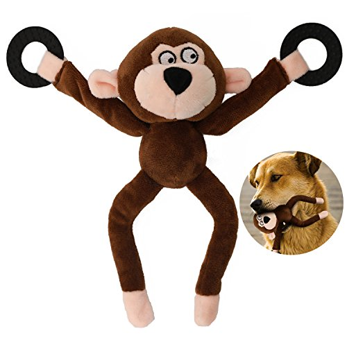 - Squeaker Plush Dog Toy Durable Tough Chew Pet Small Meduim Large Monkey Toys 12.5-inch