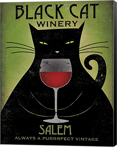 Black Cat Winery Salem by Ryan Fowler Canvas Art Wall Picture
