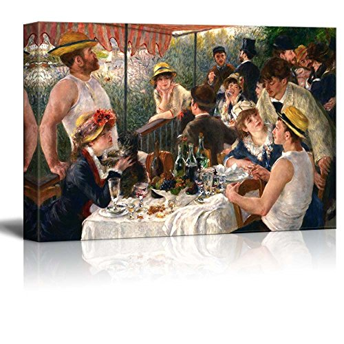 Luncheon of the Boating Party by Pierre Auguste Renoir Famous Fine Art Reproduction World Famous Painting Replica on ped Print