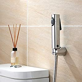 Aquieen ABS Health Faucet Set with 1 m SS 304 Shower Tube and Wall Hook (Zura)