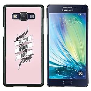 BearCase / Cubierta de protección Caso duro de la contraportada de Shell Plástico /// Samsung Galaxy A5 ( A5000 ) /// Todo lo que necesitas es amor