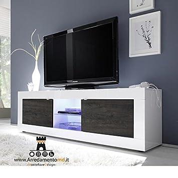 MONTEFIORE DESIGN Mobile-TV-Halterung Modernes Holz Zweifarbig weiß ...