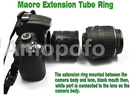 Metal Macro Extension Tube Ring Adapters Set for Canon EF 50D 40D 30D 600D 7D Amopofo