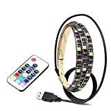 Xinda SMD 5050 RGB Flexible Led Strip Lights Kit Waterproof Rope Lights for HDTV LCD Desktop PC with Control (remote-60cm)