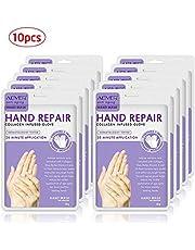 FOONEE Moisturizing Gloves - Hand Mask Gloves for Dry Hands - Organic Moisturizing Hand Mask for 4 Seasons Nourishing Smoothing Whitening Retain Hydration (10 Pack) Floral