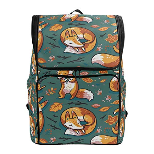 ALLMILL Backpack Seamless Pattern Cute Cartoon Foxes Characters Lightweight Travel Bag Hiking Knapsack College Student School Bookbag Travel Daypack for men women -