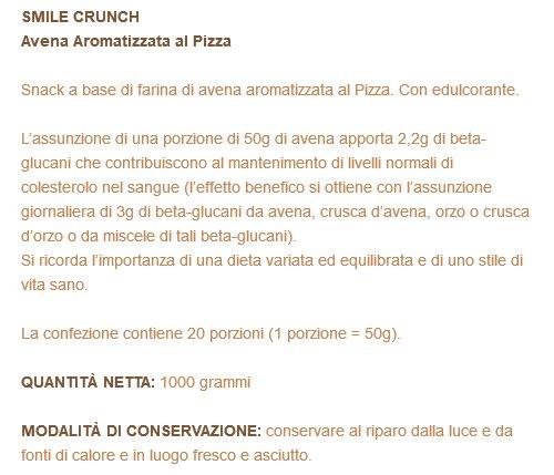 SMILE CRUNCH Avena con Sabor de Pizza 1000 gramos: Amazon.es: Salud y cuidado personal