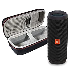 JBL Flip 4 Waterproof Portable Bluetooth Speaker (Black) & Protective Travel Case Bundle