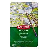 Derwent Academy P6626 Lápices Acuarelables, 12 Unidades