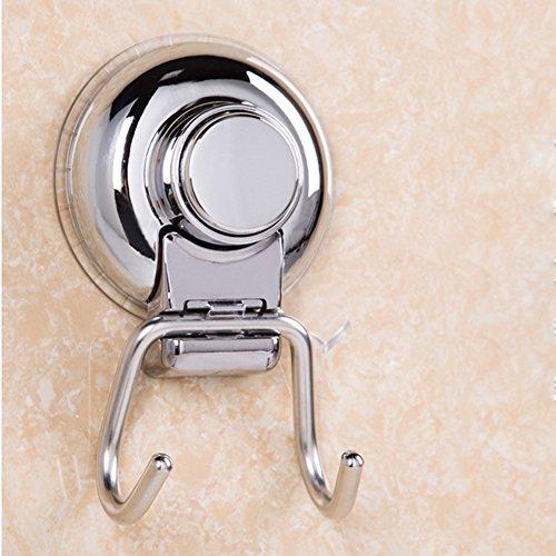 Shinena Stainless Steel Vacuum Suction Cup Hooks Holder,Suspension Sucker for Bathroom & Kitchen
