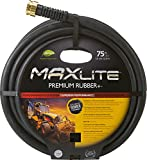 Swan Products CELSGC58075 Element MAXLite Premium Rubber+ Water Hose with Crush Proof Couplings 75' x 5/8', Black