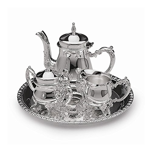 Top 10 Jewelry Gift Silver-plated 4-Piece Mini Coffee Set