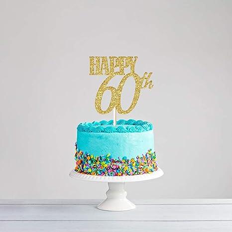Fantastic Amazon Com Cc Home 60 Cake Topper Fabulous Birthday Cake Topper Funny Birthday Cards Online Alyptdamsfinfo