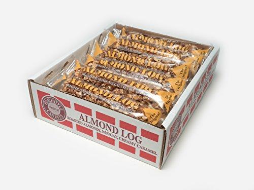 Almond Logs (12 individually wrapped 2.5oz almonds logs per box)