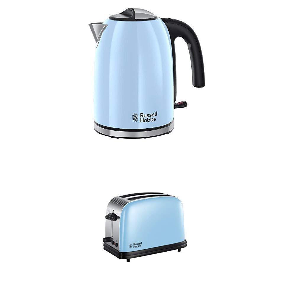 Pearl Blue Salter COMBO-3649 Metallics Polaris Dome Kettle /& 2-Slice Toaster