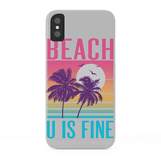 best loved 46cc5 30b64 Amazon.com: Society6 iPhone X Cases, Featuring Beach U is Fine by ...