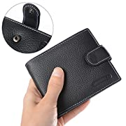 Amazon Lightning Deal 60% claimed: XCSOURCE® Men's Genuine Leather Wallet Credit/ID Card Holder Black MT199