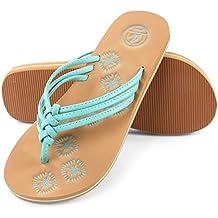Aerusi Women's Braid Thong Sandals Flip Flops