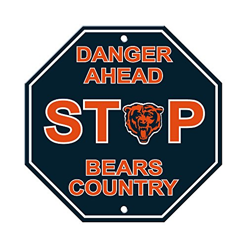 Fremont Die NFL Chicago Bears Stop Sign