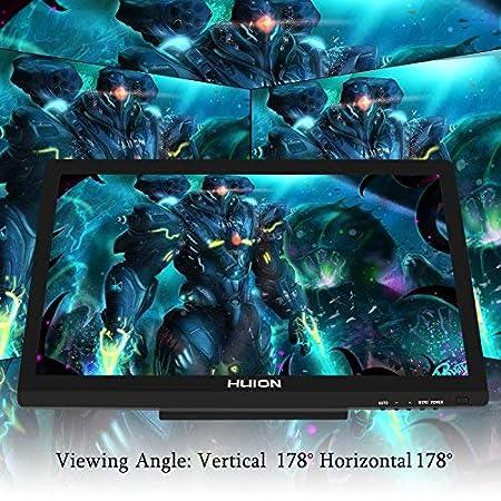 HUION Kamvas GT-220 V2 21.5 Pulgadas Monitor Gr/áfico de Dibuj Negro 8192 Niveles de Presi/ón HD 1920 x 1080 IPS Monitor de L/ápiz para Windows y Mac Plata