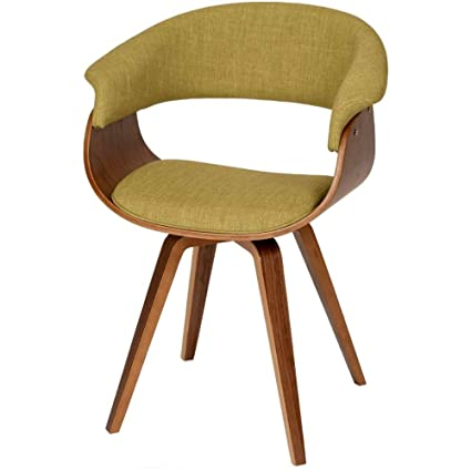 Amazoncom Bentwood Dining Chair Green Upholstery Low Back Support