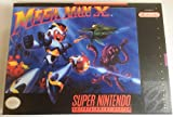Mega Man X (Super Nintendo, SNES) - Reproduction Video Game Cartridge with Universal Game Case and Glossy Manual