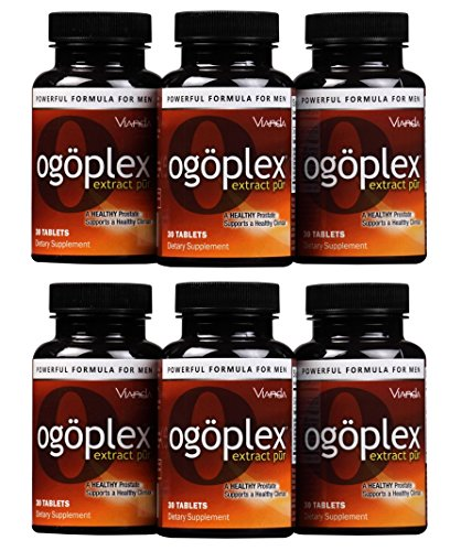 Ogoplex® | Male Prostate & Climax Enhancement Supplement with Graminex® Swedish Flower Pollen, Saw Palmetto, Phytosterols & Lycopene - 180 Tablets