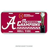Alabama Crimson Tide National Champions 2018 Plastic License Plate