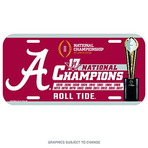 - Alabama Crimson Tide National Champions 2018 Plastic License Plate