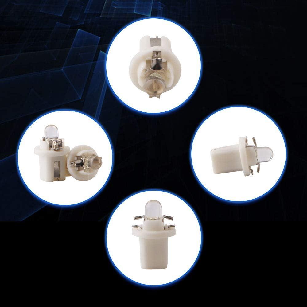 Qasim 10x B8.5 LED Bombillas Azul para Luz de Salpicadero de Coche Instrumento Veloc/ímetro Panel DC12V