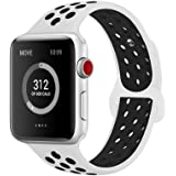AdMaster for Apple Watch Bands 38mm 42mm,Soft Silicone Replacement Wristband for iWatch Apple Watch Series 1/2/3